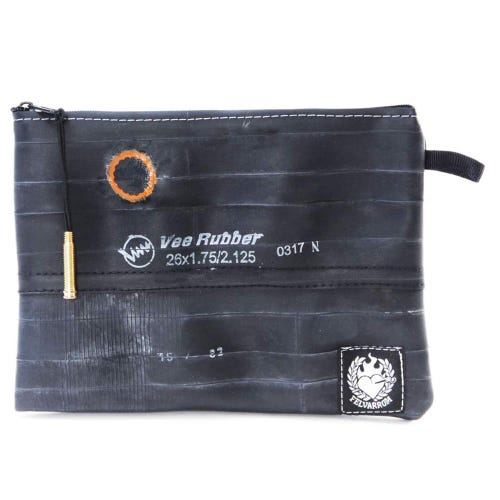 Felvarrom Recycled Inner Tube Makeup Pouch Black