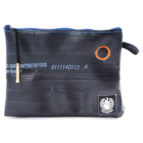 Felvarrom Recycled Inner Tube Makeup Pouch Navy
