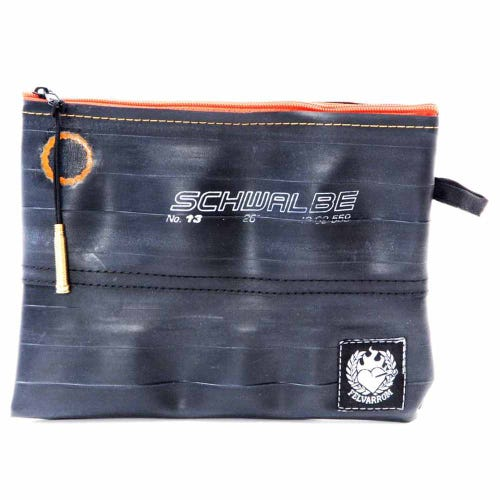 Felvarrom Recycled Inner Tube Makeup Pouch Orange