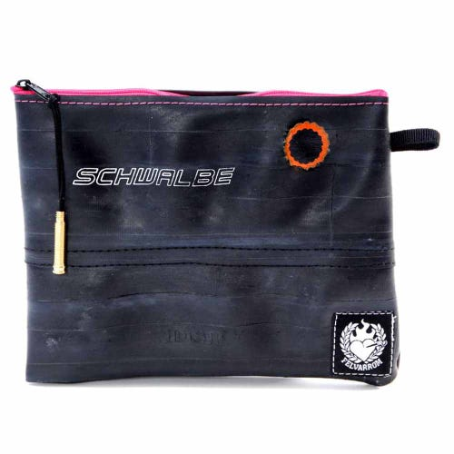 Felvarrom Recycled Inner Tube Makeup Pouch Pink