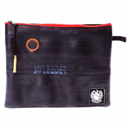 Felvarrom Recycled Inner Tube Makeup Pouch Red