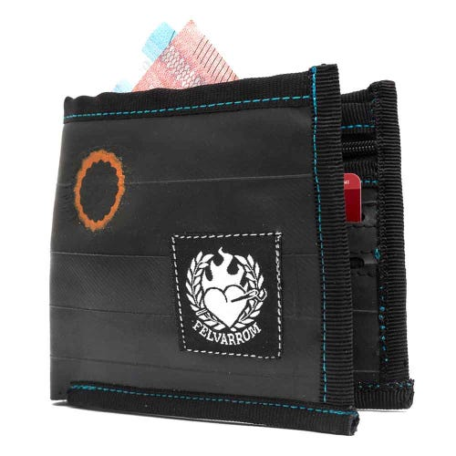 Felvarrom Recycled Inner Tube Wallet Black