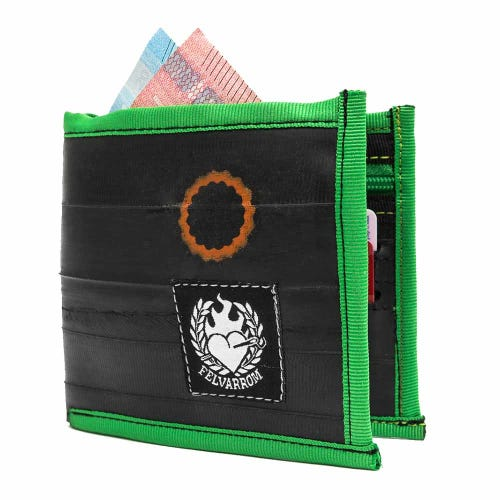 Felvarrom Recycled Inner Tube Wallet Green
