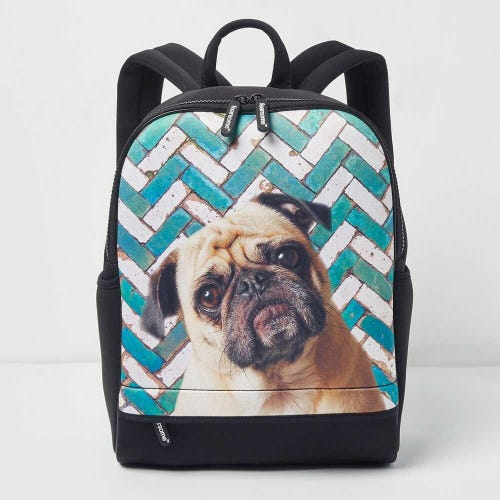 Fearsome Wilderness Backpack Mosaic Pug