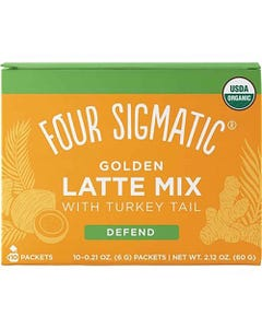 Four Sigmatic Mushroom Golden Latte Mix with Turkey Tail (10 Sachets)