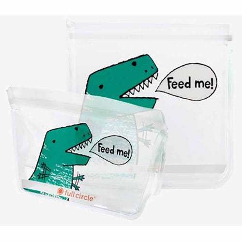 Full Circle Reusable Lunch Bags - Dinosaur 2 Pack