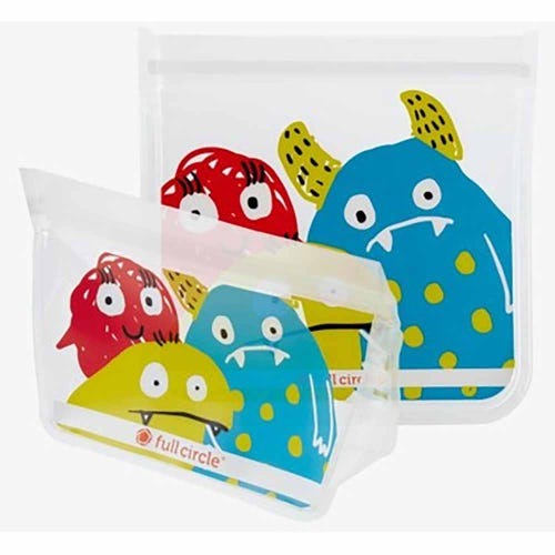 Full Circle Reusable Lunch Bags - Monster 2 Pack