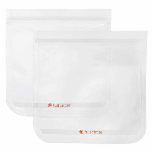 Full Circle Reusable Sandwich Bags - Clear 2 Pack