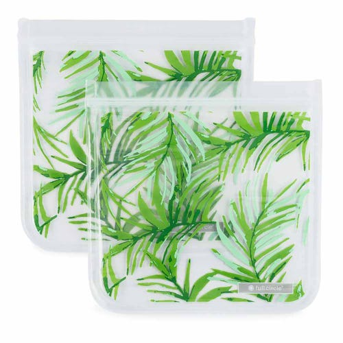 Full Circle Reusable Sandwich Bags - Palms 2 Pack
