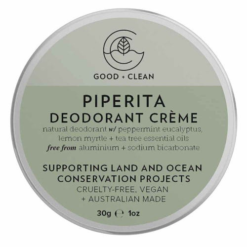 Good + Clean Deodorant Paste Travel Size - Piperita (30g)