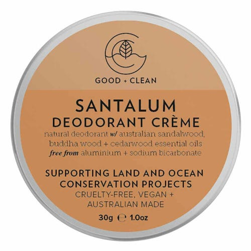 Good + Clean Deodorant Paste Travel Size - Santalum (30g)