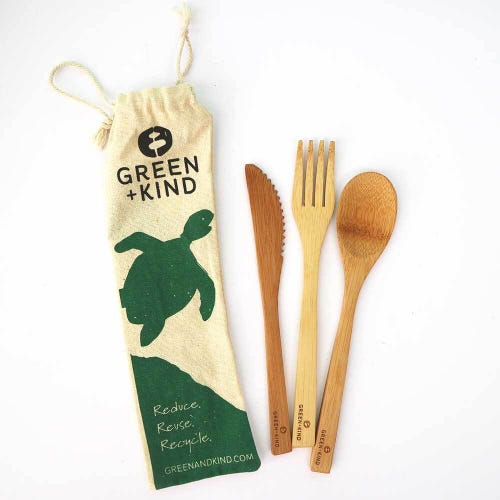 Green + Kind Bamboo Cutlery Set - Essentials