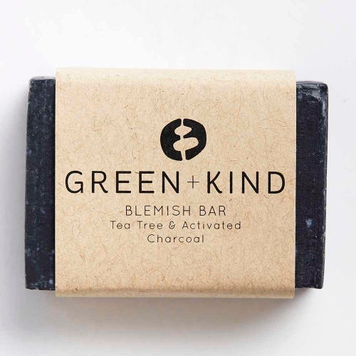 Green + Kind Facial Cleansing Bar - Blemish Bar (100g)