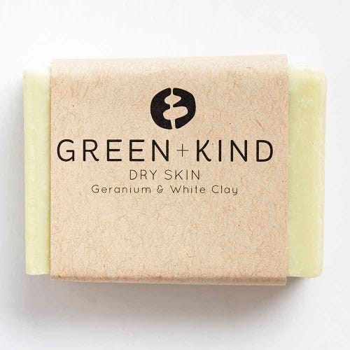 Green + Kind Facial Cleansing Bar - Dry Skin (100g)