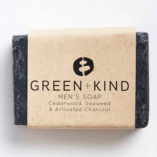 Green + Kind Facial Cleansing Bar - Men's Bar (100g)