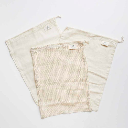 Green + Kind Organic Cotton Produce Bag 3 Pack