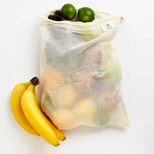 Green + Kind Organic Cotton Produce Bag Gauze