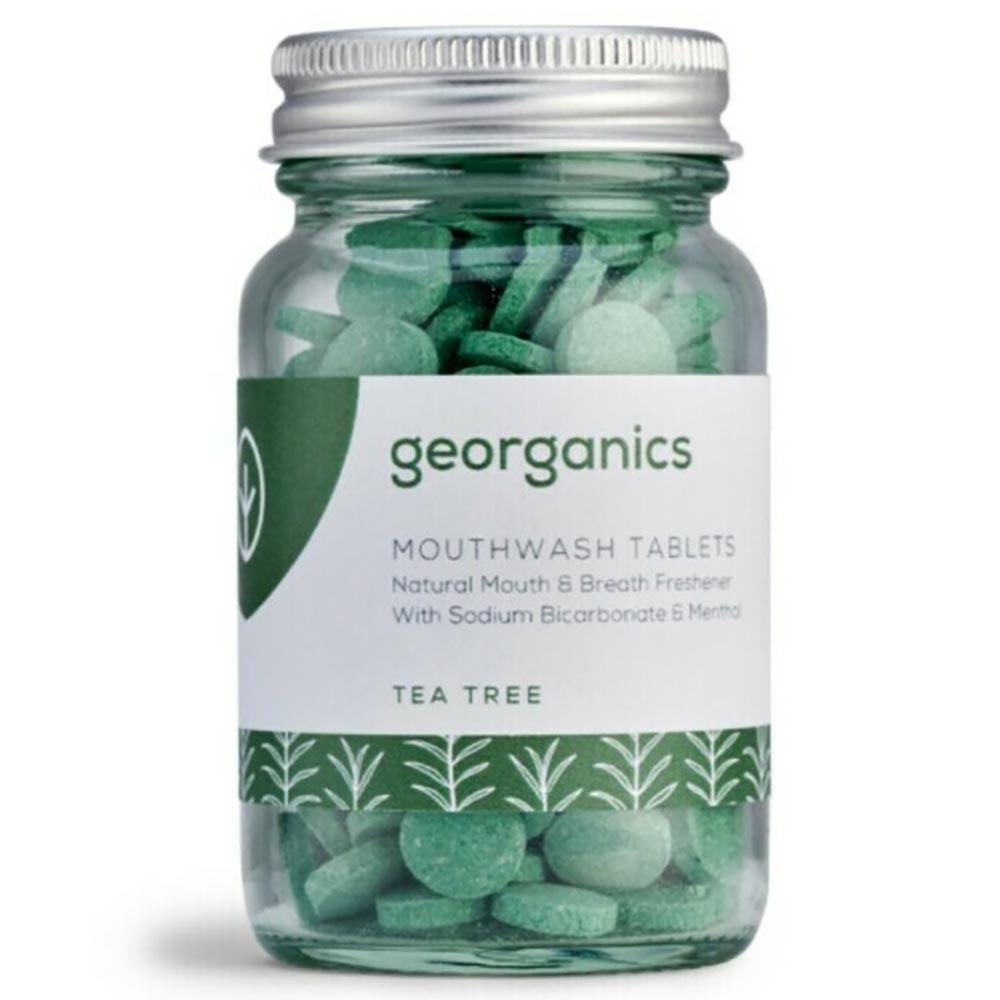 Georganics Natural Mouthwash Tablets - Tea Tree