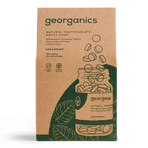 Georganics Natural Toothtablets - Spearmint