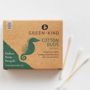 Green + Kind Bamboo Cotton Buds (100)