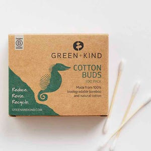 Green + Kind Bamboo Cotton Buds (200)