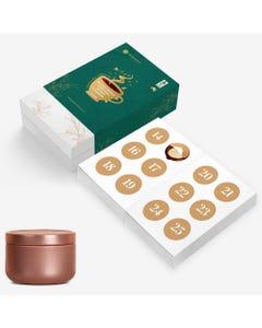 Golden Wattle Tea Advent Calendar - Green   Flora & Fauna Australia