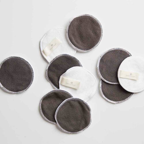 Green + Kind Reusable Bamboo Eye Makeup Remover Pad 10 Pack