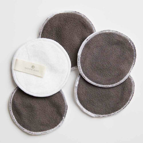 Green + Kind Reusable Bamboo Eye Makeup Remover Pad 5 Pack