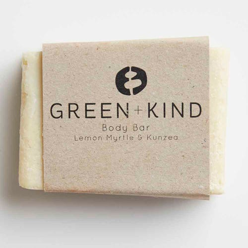 Green + Kind Body Bar - Kunzea & Lemon Myrtle (100g)