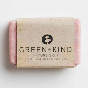 Green + Kind Facial Cleansing Bar - Mature Skin (100g)