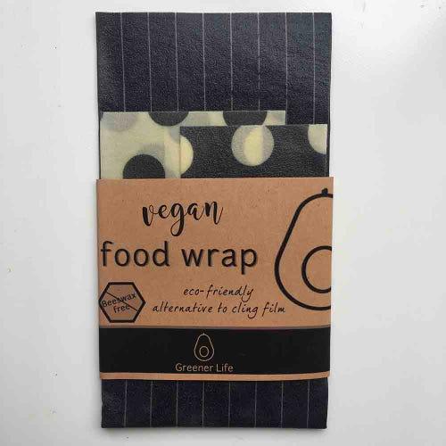 Greener Life Vegan Food Wrap - Black Stripes