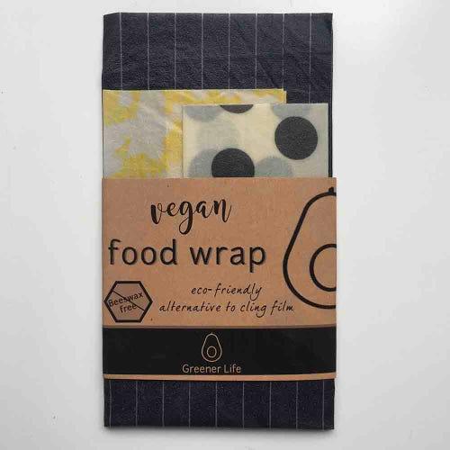 Greener Life Vegan Food Wrap - Black Yellow
