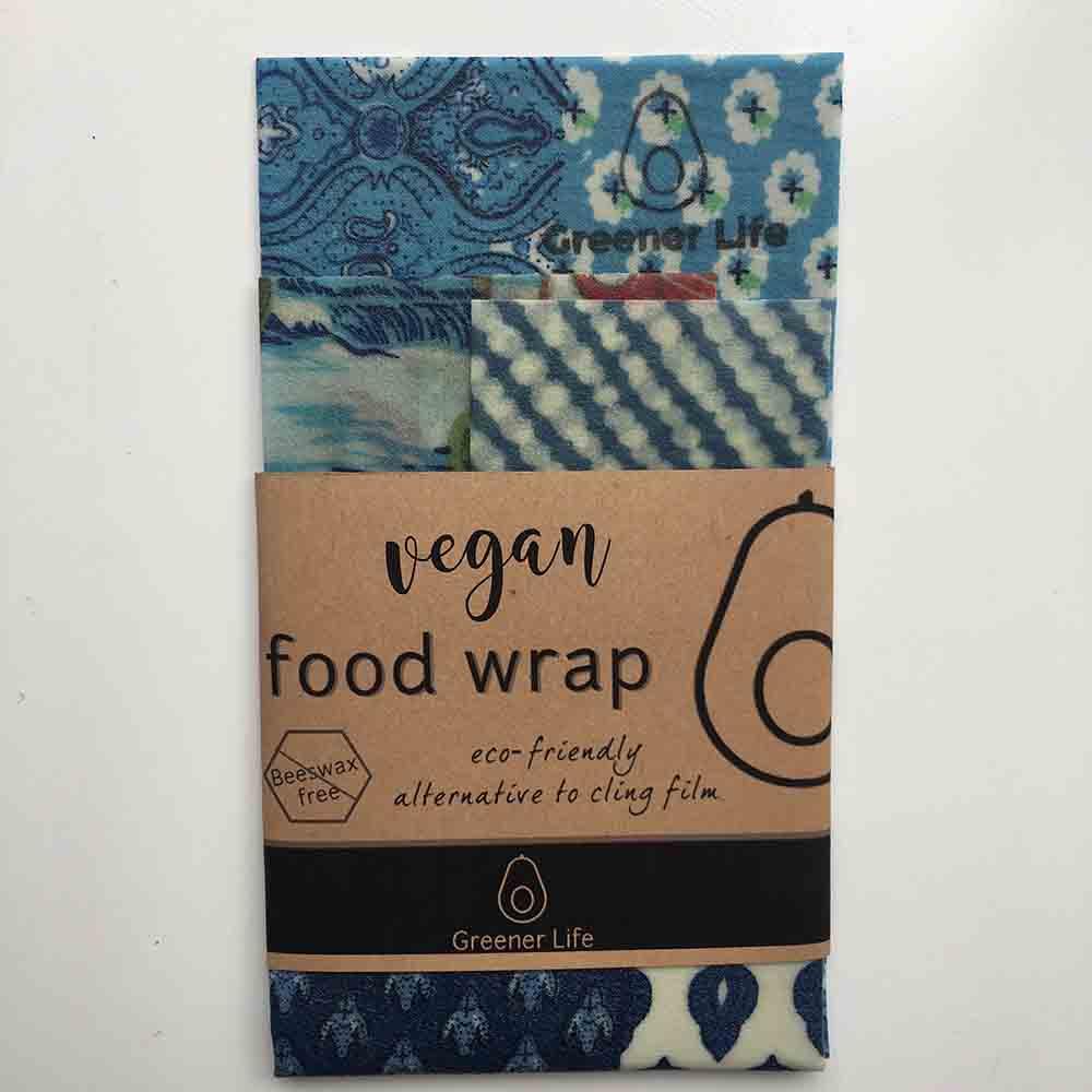 Greener Life Vegan Food Wrap - Blue Flowers