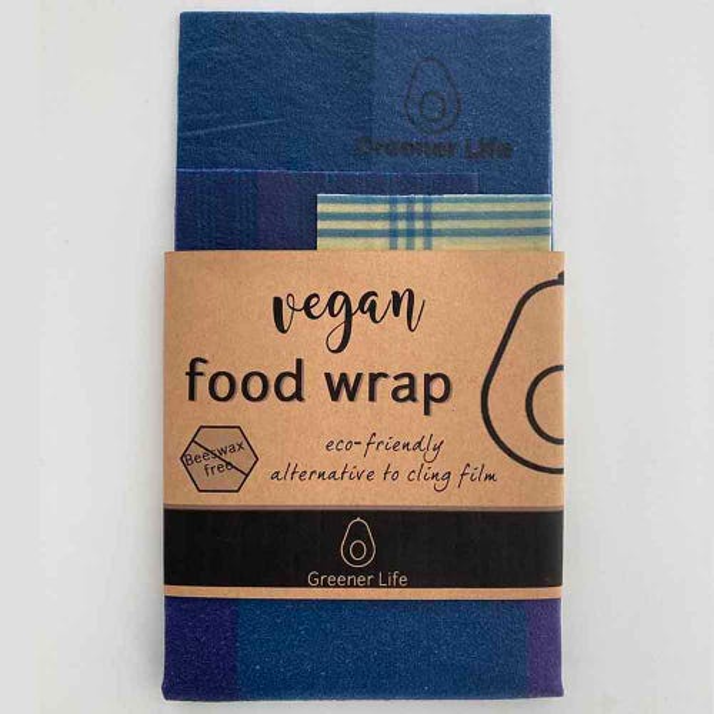 Greener Life Vegan Food Wrap - Blue & Purple