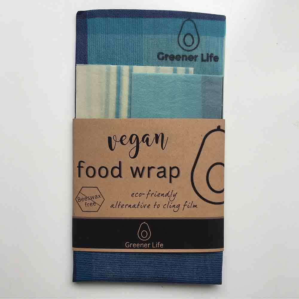 Greener Life Vegan Food Wrap - Blue Square
