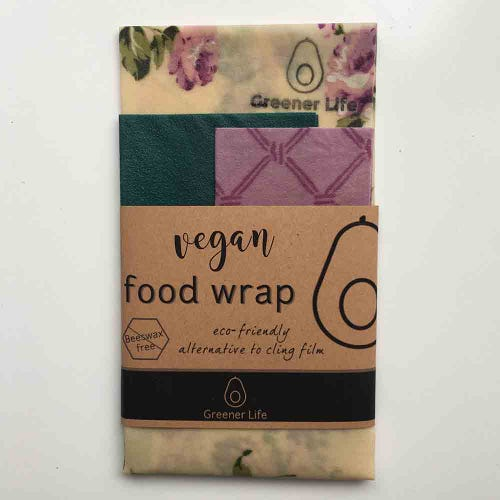 Greener Life Vegan Food Wrap - Flowers