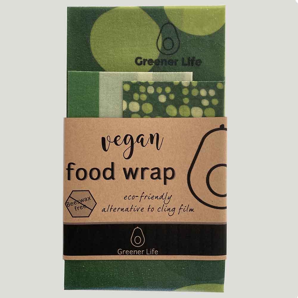 Greener Life Vegan Food Wrap - Green Spots
