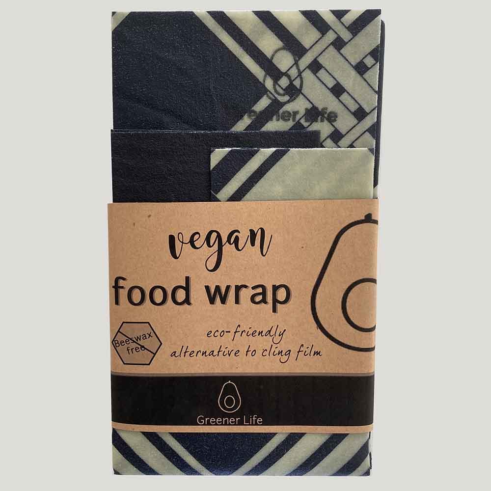 Greener Life Vegan Food Wrap - Navy Check