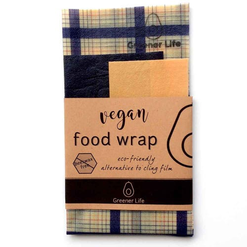 Greener Life Vegan Food Wrap - Blue Black