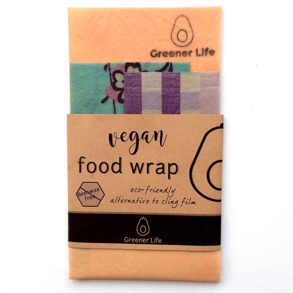 Greener Life Vegan Food Wrap - Orange Flowers