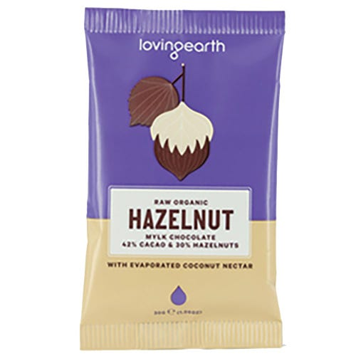 Loving Earth Hazelnut Mylk Organic Chocolate (30g)