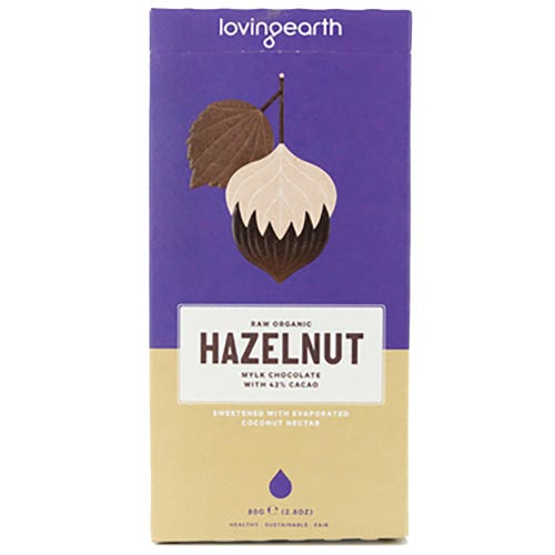 Loving Earth Hazelnut Mylk Organic Chocolate (80g)