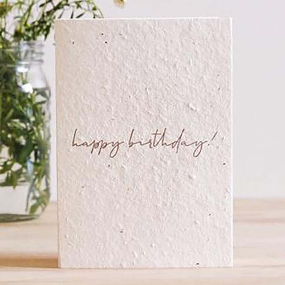 Hello Petal Seeded Card - Minimal Birthday Blooming Card