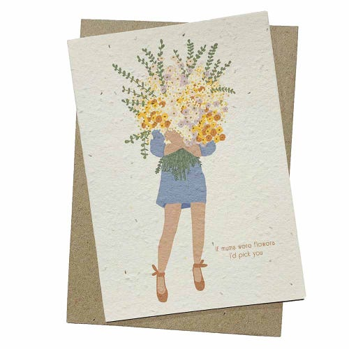 Hello Petal Seeded Card - If Mums Were Flowers