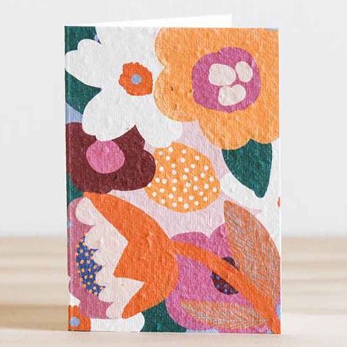 Hello Petal Seeded Card - Moon Flower Blooming Card