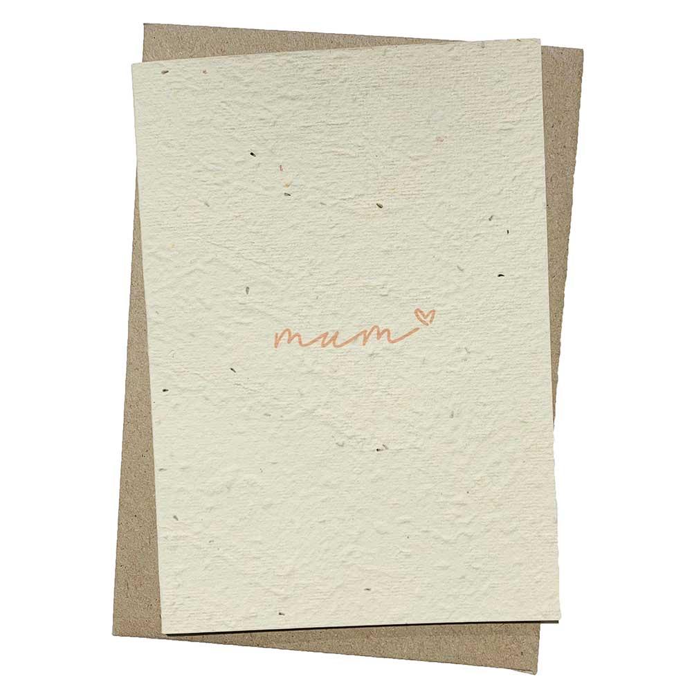 Hello Petal Seeded Card - Mum Blooming