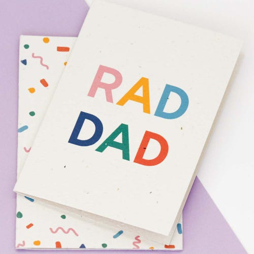 Hello Petal Seeded Card - Rad Dad