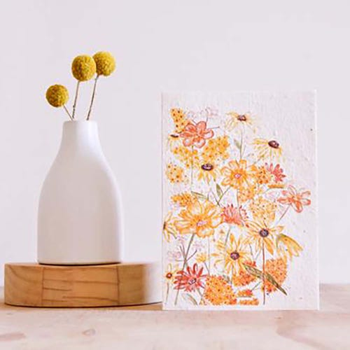 Hello Petal Seeded Card - Shades of Sunshine Blooming Card