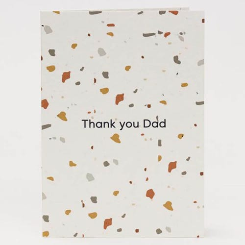 Hello Petal Seeded Card - Terrazzo Dad Blooming Card