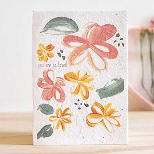 Hello Petal Seeded Card - You Are So Loved Blooming Card